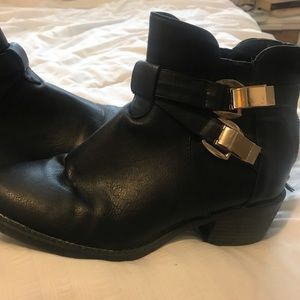 Shoes - Black Booties Ankle Boots